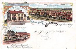 Souvenir De Boncourt - Litho 1899 - Villa Fabrique Burrus A. Monnier Cigares&Cafés - JU Jura
