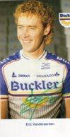 B5943 CP Cyclisme Eric Vanderaerden Dédicacée - Cyclisme