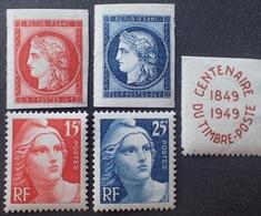 VL3804/131 - 1949 - CENTENAIRE DU TIMBRE - N°830 à 833 NEUFS** - Cote (2020) : 16,00 € - France