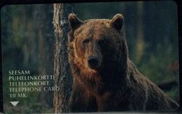 FINLAND 1998 PHONECARD BEAR USED VF!! - Phonecards