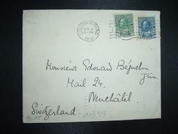LETTRE Pour La SUISSE TP 5c + TP 1c OBL.MEC.JAN 31 1916 LONDON ONTARIO - 1911-1935 Reign Of George V
