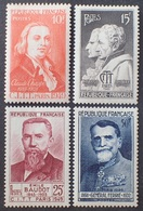 VL3804/133 - 1949 - CELEBRITES - N°844 à 847 NEUFS** - France