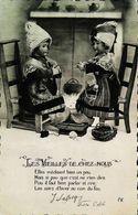CPA  Atre Cheminée  Tricot  Les Vieilles De Chez Nous - Carte Postale Card - Dolls