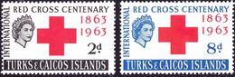 TURKS & CAICOS ISLANDS 1963 QEII Red Cross Set SG255/6 MNH - Turks & Caicos (I. Turques Et Caïques)