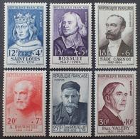 VL3804/139 - 1954 - CELEBRITES - N°989 à 994 NEUFS* (SERIE COMPLETE) - Cote (2020) : 110,00 € - Francia