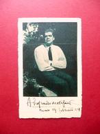 Autografo Alessandro De Stefani Cartolina 1934 Commediografo Cividale Del Friuli - Autographes