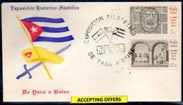 39090 Cuba 1964 Yara  Philatelic  Historic-Exposition, - FDC