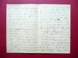 Autografo Luigi Miceli Lettera Roma 1875 Camera Dei Deputati Patriota Cosenza - Autographes
