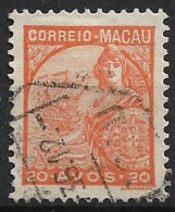 Macao Macau – 1934 Padrões Type 20 Avos - Macao