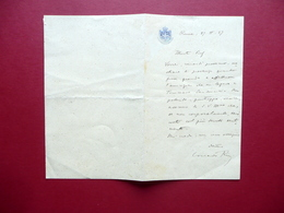 Autografo Corrado Ricci Lettera Roma 27/2/1927 Archeologia Storia Ravenna - Autographes