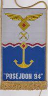 CROATIA  --   ,, POSEJDON 94 ,,  --  VJEZBA HRZ- A  I HRM - A  --     20 Cm X 11 Cm  -  BANNER, PENNANT, DRAPEAU - Bandiere