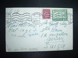CP Pour La SUISSE TP MUSEU NACIONAL DOS COCHES S90 + TP S50 OBL.MEC.15.9.52 FUNCHAL - 1910-... République