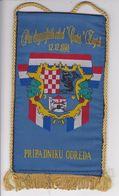 CROATIA  -  PRVI DRAGOVOLJACKI ODRED  ,, CENTAR ,,  ZAGREB   -  PRIPADNIKU  -  18 Cm X 10,5  -  BANNER, PENNANT, DRAPEAU - Bandiere