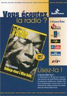 D2196 CARTE PUBLICITAIRE - RADIO FRANCE - LA SEMAINE RADIO FRANCE EN HEBDOMADAIRE DE 48 PAGES - Publicité