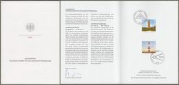 "Bund: Minister Card Ministerkarte Typ VII, Mi-Nr. 3391-92: "" Leuchttürme: Leuchtturm Darßer Ort; Lt. Wangerooge "" X X - Briefe U. Dokumente"