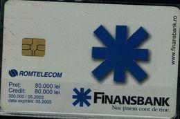 ROMANIA 2005 PHONECARD FINANSBANK USED VF!! - Roumanie