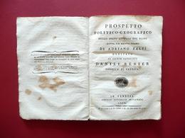 Prospetto Politico Geografico Dello Stato Attuale Del Globo Adriano Balbi 1808 - Bücher, Zeitschriften, Comics