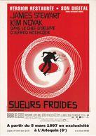 D2215 CARTE AFFICHE - SUEURS FROIDES D'ALFRED HITCHCOCK - AVEC JAMES STEWART ET KIM NOVAK - VERSION RESTAURÉE DE 1997 - Affiches Sur Carte