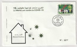 Maroc. Enveloppe De 1er Jour  2020. Fonds Covid-19. 3.75 + 5 Dh. - Ziekte
