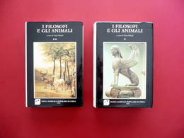 I Filosofi E Gli Animali Ditaldi Celli Banca Agricola Di Cerea 1994 2 Volumi - Bücher, Zeitschriften, Comics