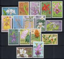 Barbados 1974 Mi. 365-380 MNH 100% Orchid, Flowers - Barbados (1966-...)
