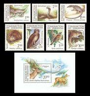 Uzbekistan 1993 Mih. 7/13 + 14 (Bl.1) Fauna. Rare Animals MNH ** - Uzbekistán