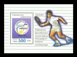 Uzbekistan 1994 Mih. 42 (Bl.3) Tennis MNH ** - Ouzbékistan