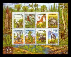 Uzbekistan 1999 Mih. 232/39 Fauna. Prehistorical Animals MNH ** - Uzbekistán