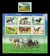 Uzbekistan 2000 Mih. 247/53 Horses. Equestrianism MNH ** - Ouzbékistan