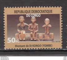 ##11, Congo, MNG, Femme Nue, Nude Woman, Nu, Montant De Lit, Bois, Wood, Sculpture, Famille, Family - République Démocratique Du Congo (1997 -...)