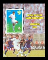 Uzbekistan 2006 Mih. 615 (Bl.39) Football World Cup In Germany MNH ** - Ouzbékistan