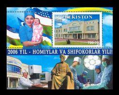 Uzbekistan 2006 Mih. 703 (Bl.46) Year Of Medical Worker MNH ** - Ouzbékistan
