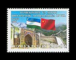 Uzbekistan 2006 Mih. 709 Diplomatic Relations With China MNH ** - Ouzbékistan