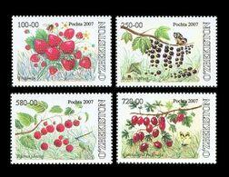 Uzbekistan 2007 Mih. 750/53 Flora. Berries MNH ** - Uzbekistán