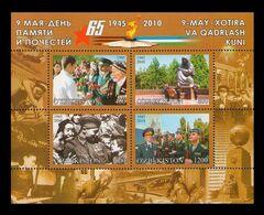 Uzbekistan 2010 Mih. 895/98 (Bl.55) World War II. 65th Anniversary Of The Victory MNH ** - Uzbekistán