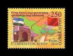 Uzbekistan 2010 Mih. 900 Gas Pipeline Uzbekistan-China MNH ** - Ouzbékistan