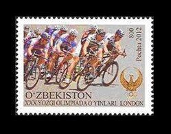 Uzbekistan 2012 Mih. 1019 Olympic Games In London. Bicycle Racing MNH ** - Uzbekistán