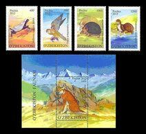 Uzbekistan 2012 Mih. 1020/23 + 1024 (Bl.63) Fauna. Rare Animals MNH ** - Uzbekistán