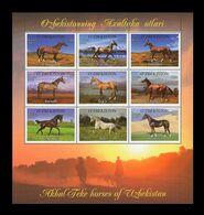 Uzbekistan 2012 Mih. 1025/33 Fauna. Horses MNH ** - Uzbekistán