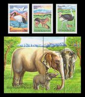 Uzbekistan 2012 Mih. 1046/48 + 1049 (Bl.64) Fauna. Tashkent Zoo MNH ** - Uzbekistan