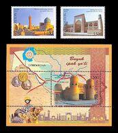 Uzbekistan 2013 Mih. 1056/57 + 1058 (Bl.66) Great Silk Way MNH ** - Uzbekistan