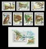 Uzbekistan 2015 Mih. 1111/17 + 1118 (Bl.73) Fauna. Rare Animals (surcharge) MNH ** - Uzbekistán