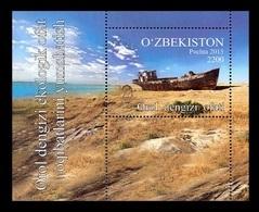 Uzbekistan 2016 Mih. 1135 (Bl.76) Aral Sea. Ship MNH ** - Uzbekistán