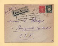 Destination Brazzaville - Acheminement Impossible - Prechac Sur Audour - Gers - 1942 - WW II