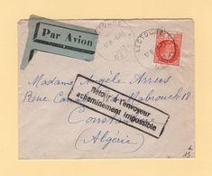 Destination Algerie - Acheminement Impossible - Lectoure - Gers - 1942 - Oorlog 1939-45