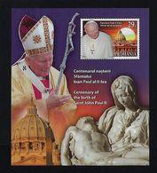 "2020 ROMANIA ""CENTENARIO NASCITA PAPA GIOVANNI PAOLO II / POPE JOHN PAUL II"" BF MNH - Nuovi"