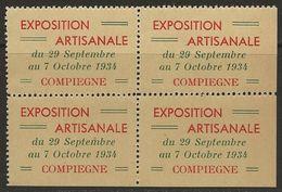 France 1934Vignette En BLOCCompiègneExposition Artisanale TB Sans Charnière - Commemorative Labels