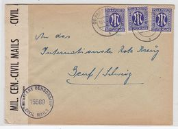 Bizone Brief Mit MEF+Zensur An Das Rote Kreuz Zentralstelle Für Kriegsgefangene Genf Schweiz - Zona Anglo-Americana