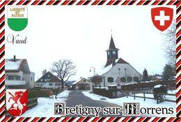 Postcard, REPRODUCTION, Switzerland, Canton Vaud, Bretigny-sur-Morrens - Maps