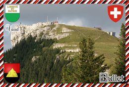Postcard, REPRODUCTION, Switzerland, Canton Vaud, Bullet - Maps